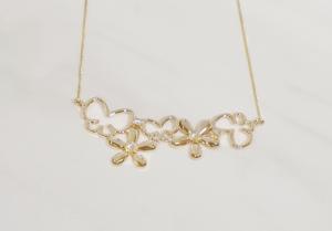 Butterfly_flower_diamond_necklace MIWAKO JEWELRY