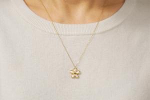 MIWAKO JEWELRY TOKYO Flower Pave Necklace