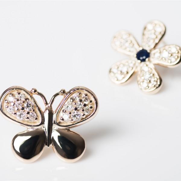 Garden Butterfly Pave Earrings